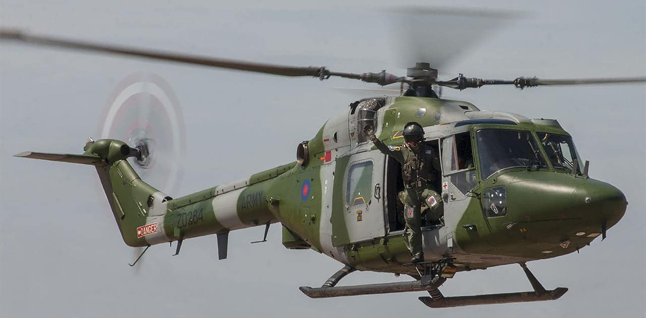 Westland Lynx helicopter.
