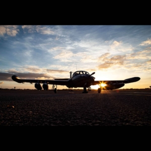 A-37 during sunset