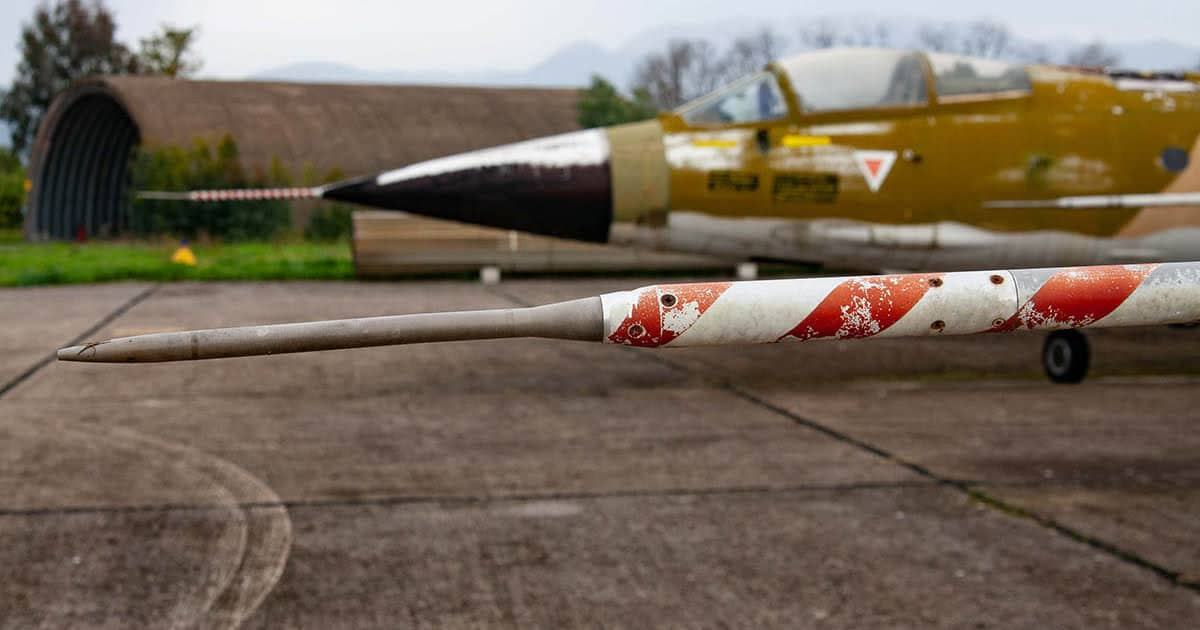 Close-up of a pitot tube of a Hellenic F-104 Starfighter photo