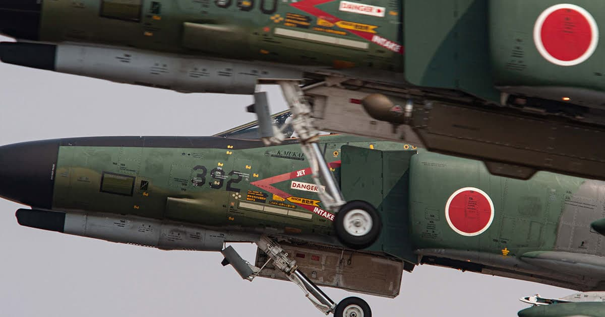 Two RF-4Es taking off photo