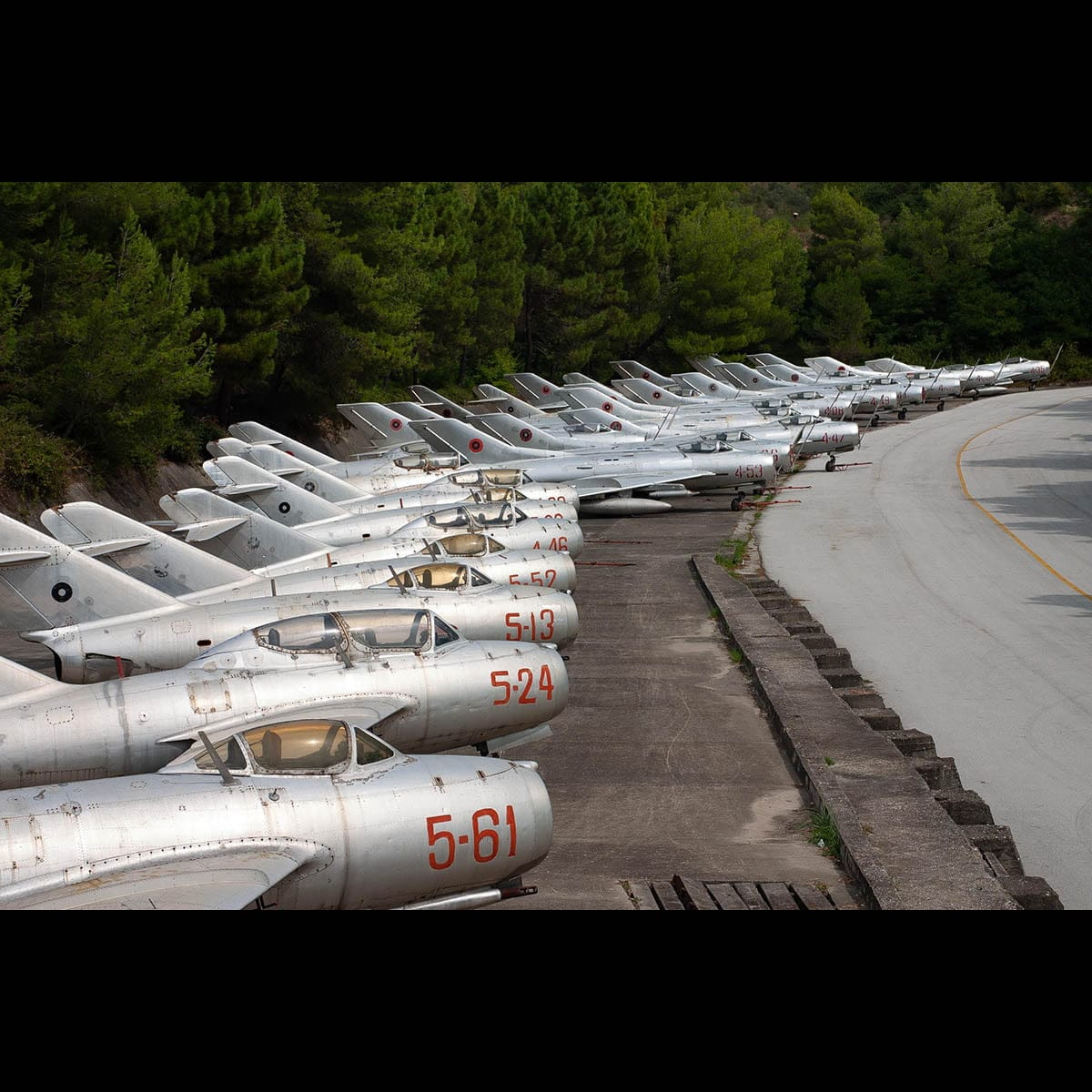 Line-up of Albanian aircraft