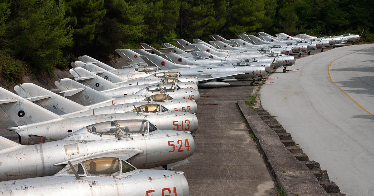 Line-up of Albanian aircraft photo