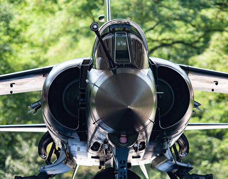 French Mirage F1 captured on photo