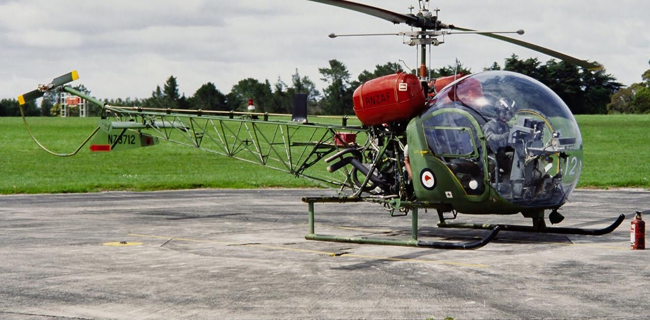 Bell 47 helicopter of the Royal New Zealand Air Force