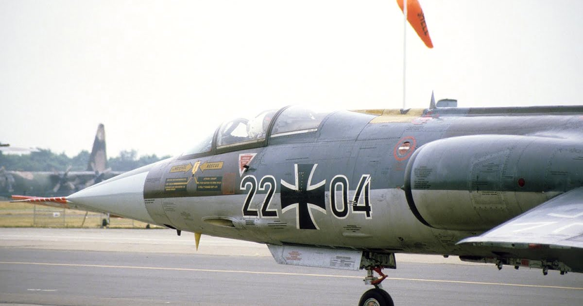 German Air Force F-104G taxying.