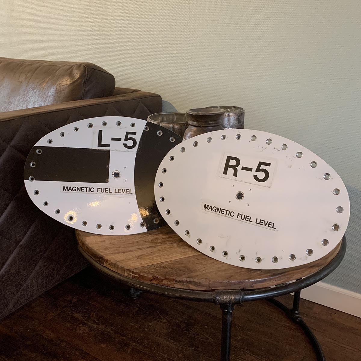 Two Airbus A319 fuel caps for sale.