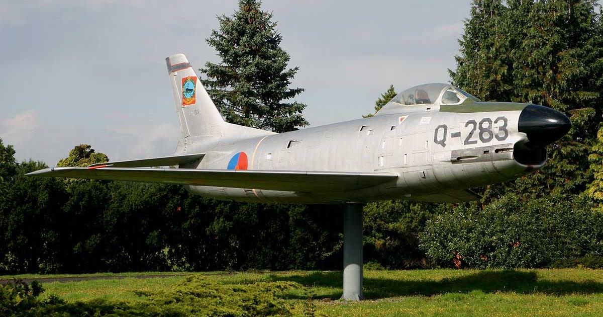North American F-86K Sabre at Twenthe Air Base.